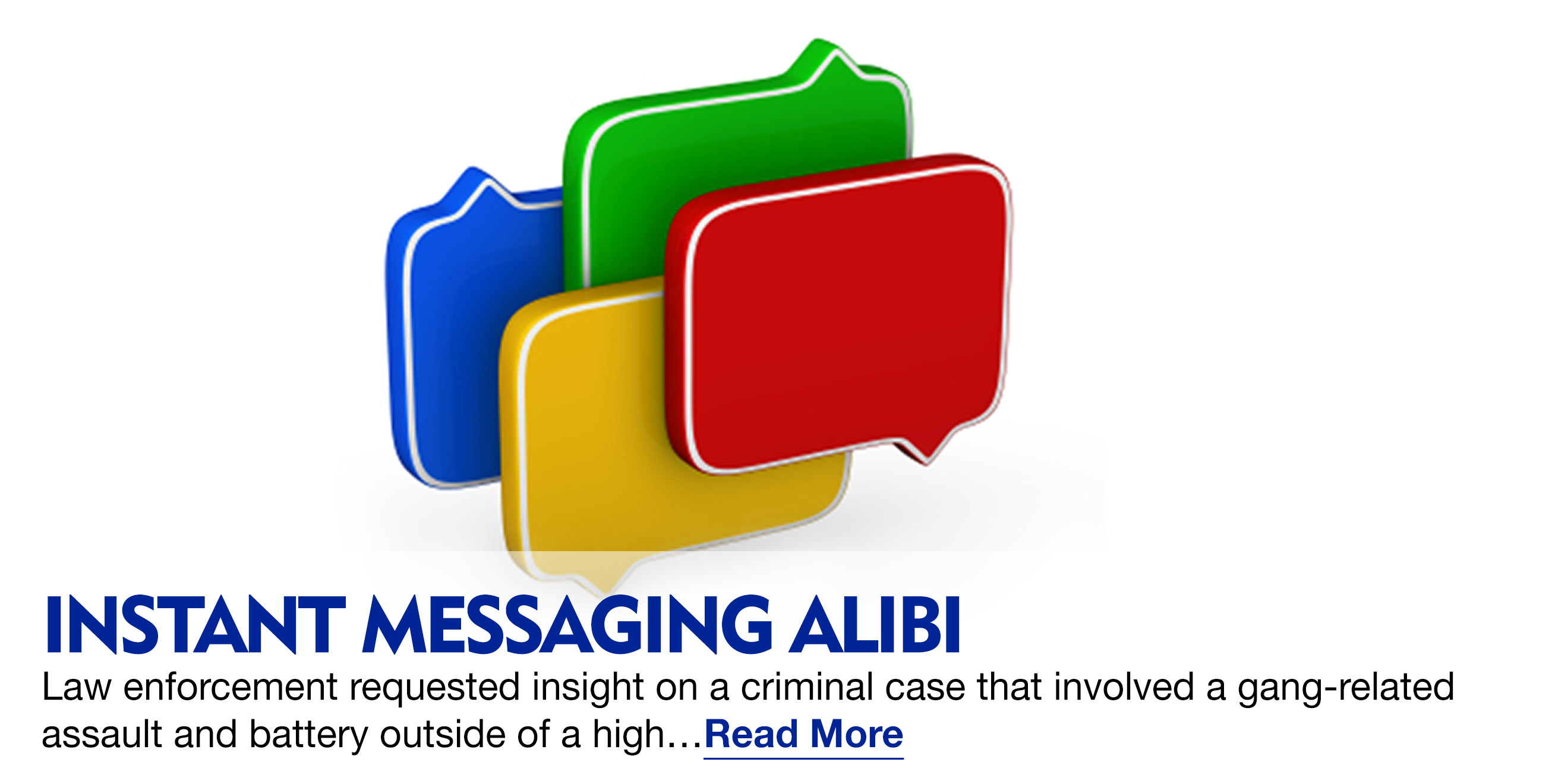 Instant Messaging Alibi